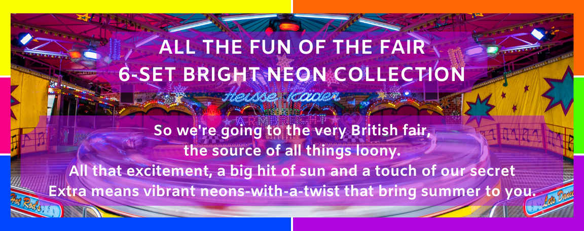 All The Fun Of The Fair 6-set bright neon collection